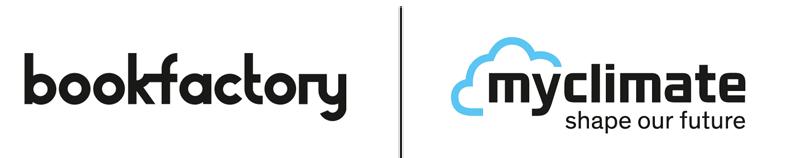 Logo bookfactory und myclimate